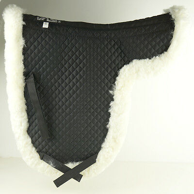 Z21Deluxe Sheepskin Dressage Saddle Pad Extra Thick Smooth Wool DNF-WT-BK C90L3K