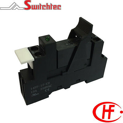 Din Rail Mount Single Pole Changeover Relay Module 12Vdc