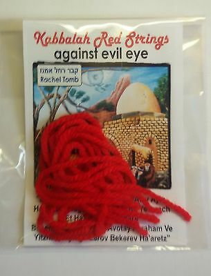 Original kabbalah Kabala Red String Thread 5PCS Rachel Tomb Jerusalem Protect
