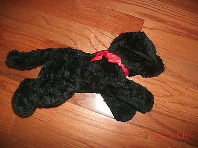 "Gund Black Dog labrador  Nuzzles Huggable Plush EUC  14"" x 9"""
