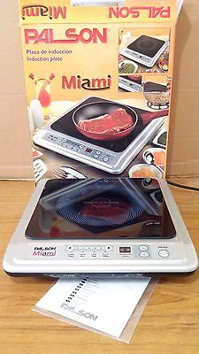 Single Portable 2kW Induction Cooker Hob. Palson Miami, uses 12-26 cM cookware