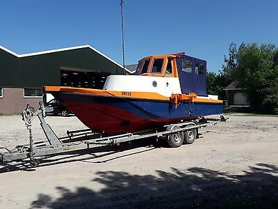 Surveyboat, Workboat, fishing,boat trailerable boat with sonar/multibeam Survey
