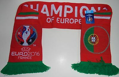 Portugal Uefa Euro 2016 Champions Of Europe Limited Issue Scarf - Brand New