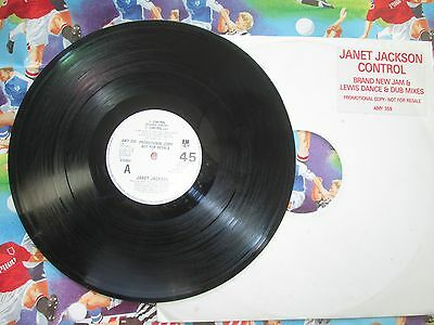 Janet Jackson Control A&M Records  Promo UK 12inch Jimmy Jam & Terry Lewis
