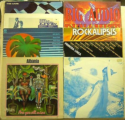 LOTE LPs NEW WAVE POP ROCK REGGAE