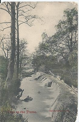 Postcard - Falls on the Frome Somerset posted 1908