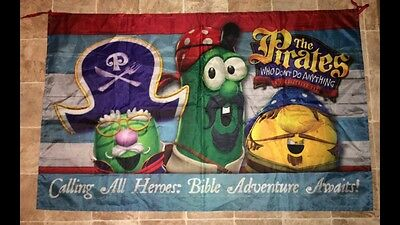 Veggietales Vacation Bible School The Pirates Who Don't Do Anything Banner 2007