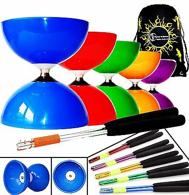 Big Top - Jumbo Ball Bearing Diabolo Set + Ali Dream Metal Diablo Handsticks, +