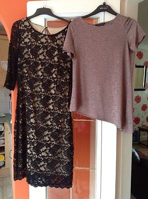 Ladies Dress & Dorothy Perkins Top Size 12