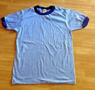 "BLUE 10 Pack---Vintage ,USA, Old Store Stock ""RINGER"" T-shirt, in  Men's Medium"