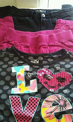 Girls size 8 lucky brand black jeans tcp pants and justice top