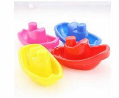 4X Baby Floating Kids Children Bath Tub Time Fun Play Plastic Boats Toys Set