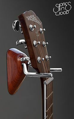 Acoustic/Electric Guitar Wall Hanger, Wall Mount - Stories In Wood