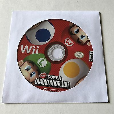New Super Mario Bros. Wii (Nintendo Wii, 2009) Game Only