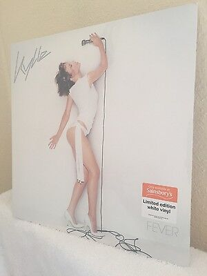 "Lp Vinyl 12"" Record Kylie Fever White Vinyl 1000 Only Sainsbury's Mint/sealed"