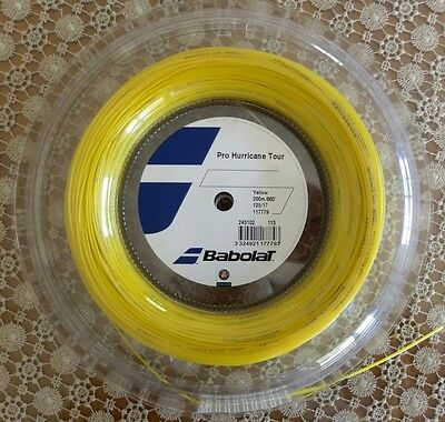 Genuine Babolat Pro Hurricane Tour 200m Reel 1.25mm Yellow