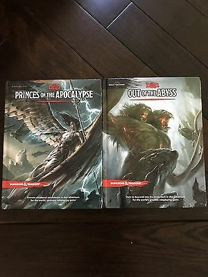 Out Of The Abyss and Princes Of The Apocalypse dungeons dragons