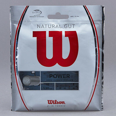 2x 12.2m Packets of Genuine Wilson Natural Gut 1.30mm Tennis String