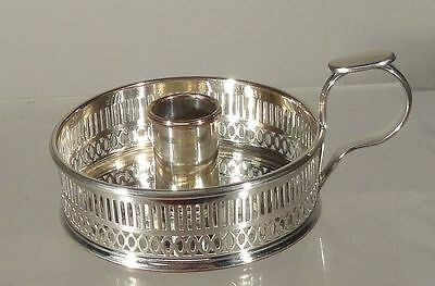 Antique English Sheffield Silver plate Candlestick Holder Silver on COpper