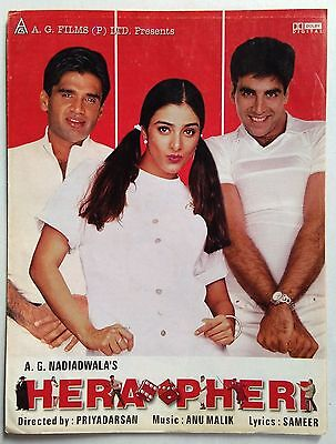 Old Bollywood Movie Press Book-Hera Pheri /suniel Shetty Akshay Kumar  Tabu