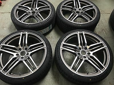 "19"" TRIPLE 5 SPOKE ALLOY WHEELS AND TYRES AUDI VW 5x112 Fitting ex display"