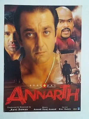 Old Bollywood Movie Press Book- Annarth/sanjay Dutt,sunil Shetty/2002