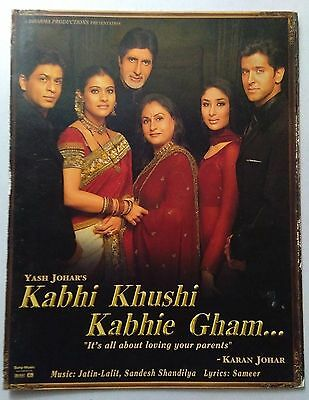 Old Bollywood Movie Press Book- Kabhi Khushi Kabhie Gham /amithabh Bachchan