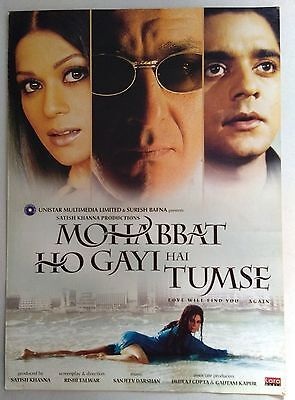 Old Bollywood Movie Press Book-Mohabbat Ho Gayi Hai Tumse /sanjay Dutt