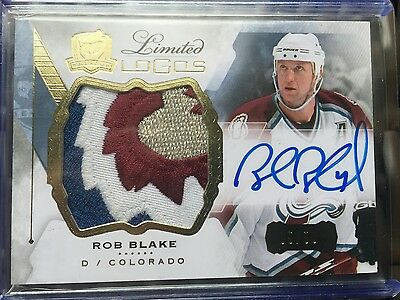 Rob Blake Avs The Cup Patch Auto