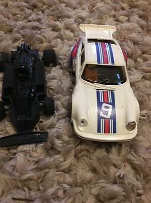 Vintage Scalextric Porsche And Racing Car