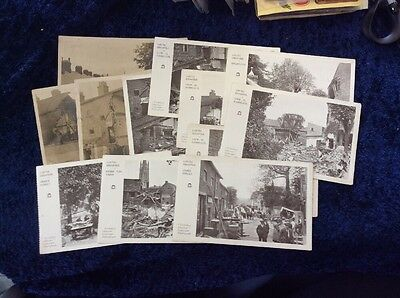 9 x Printed & 3 RPPC of the Louth Disaster, Lincoln in 1920 - Yorkshire Observer