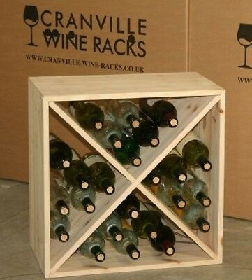 Wine Rack Cube - Flat Pack - Pine. Cranville Wine Racks. Free Shipping