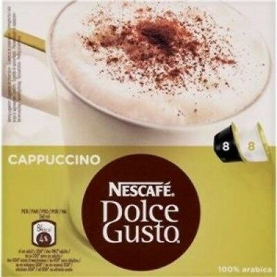 328143 - Nescafe Dolce Gusto Cappuccino 24 Drink Pack of 48 Caps
