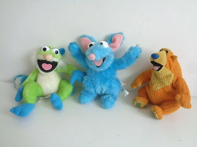 """BEAR IN THE BIG BLUE HOUSE - SET OF 3 SOFT TOYS 6"""" - BEAR, TREELO and TUTTER"""