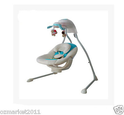 European Security Blue Comfortable Baby Swing Chair/Baby Electric Rocking Chair