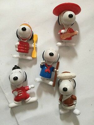 Mc Donald's Happy Meal Figures 1999 Snoopy X 5