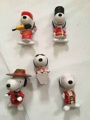 Mc Donald's Happy Meal 1999 Snoopy X 5
