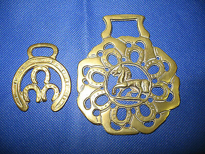 Horse Brass Medallion Equestrian Ornament Horse Shoe Leg Foot Small Lrg Vintage
