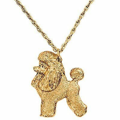Caniche (Toilettage Puppy) Made in UK  Collection Pendentif Collier Artistiqu...