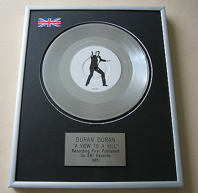 DURAN DURAN A View To A Kill PLATINUM SINGLE DISC PRESENTATION