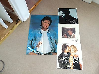 Cliff Richard 3 Photo Inserts + Live Cash Poster From Midlands