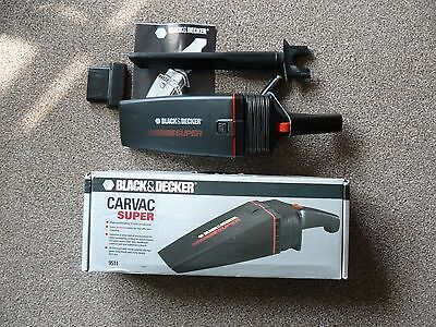 Black and Decker Carvac Super 12V Handheld Vacuum Cleaner - boxed with tools