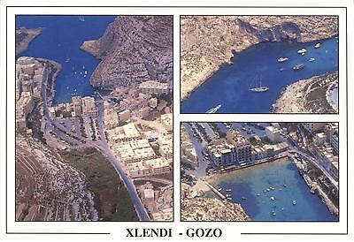 Malta  -  Island of Gozo - Xlendi - Aerial panorama - Pictures of the town