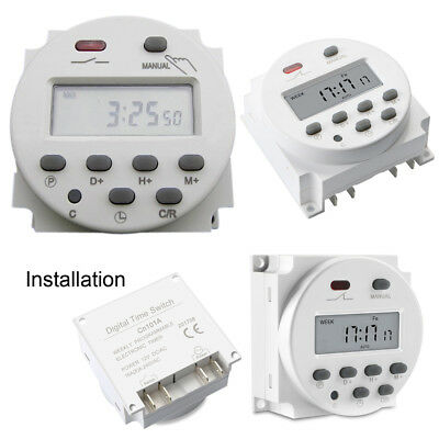 CN101 DC 12V Digital LCD Power Programmable Timer Relay Switch Daily Weekly #u