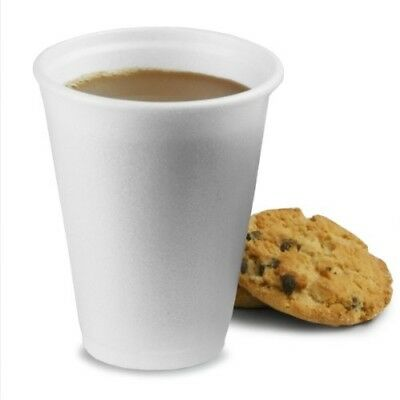 Disposable Polystyrene Cups 7oz / 200ml - Sleeve of 25 | Disposable Coffee Cups