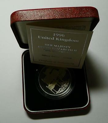 1996 Uk Royal Mint Queen 70th Birthday £5 Five Pound Silver Proof Crown Coin
