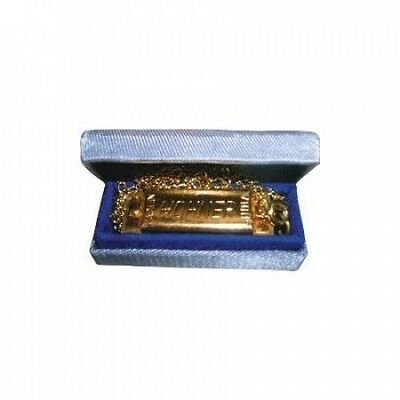 Hohner 37C Mini Harmonica, Key of C Major with Chain Multi-Coloured. Shipping In