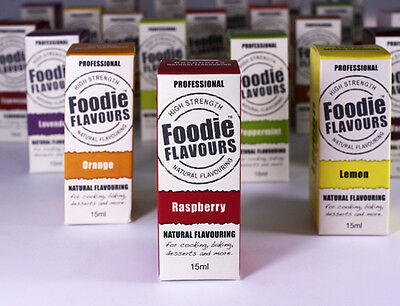 Foodie Flavours 15ml Concentrated Natural Flavouring Baking Cake Cupcake Fondant