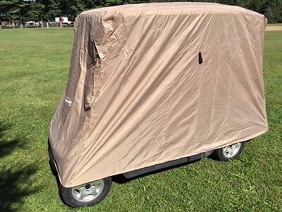 Golf Cart Storage Cover 4 Passenger Club Car, EZ GO Yamaha W Tie Down Strap New