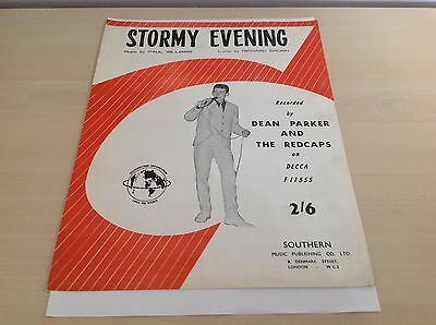 Stormy Evening Recorded by Dean Parker and The Redcaps Original Sheet Music